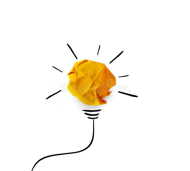 创造性的想法 概念想法和创新与纸 免版税图库摄影