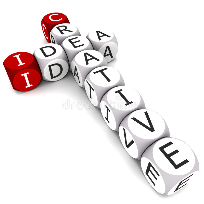 创造性的想法 库存例证