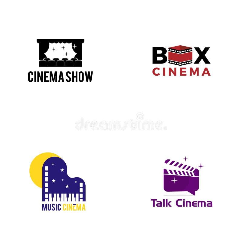创造性的戏院商标传染媒介艺术商标 皇族释放例证