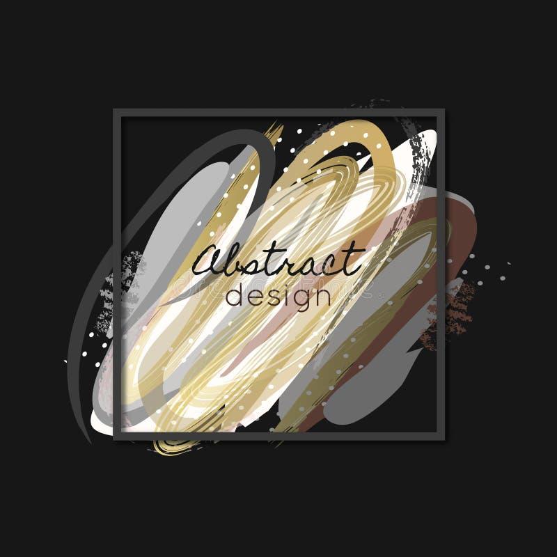创造性的抽象背景 艺术 绘飞溅 涂抹 五颜六色的纹理 颜色污迹 框架 库存例证