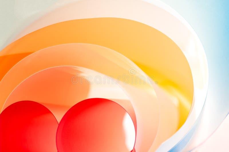 创造性的摄影-多层的被环绕的颜色板材 向量例证