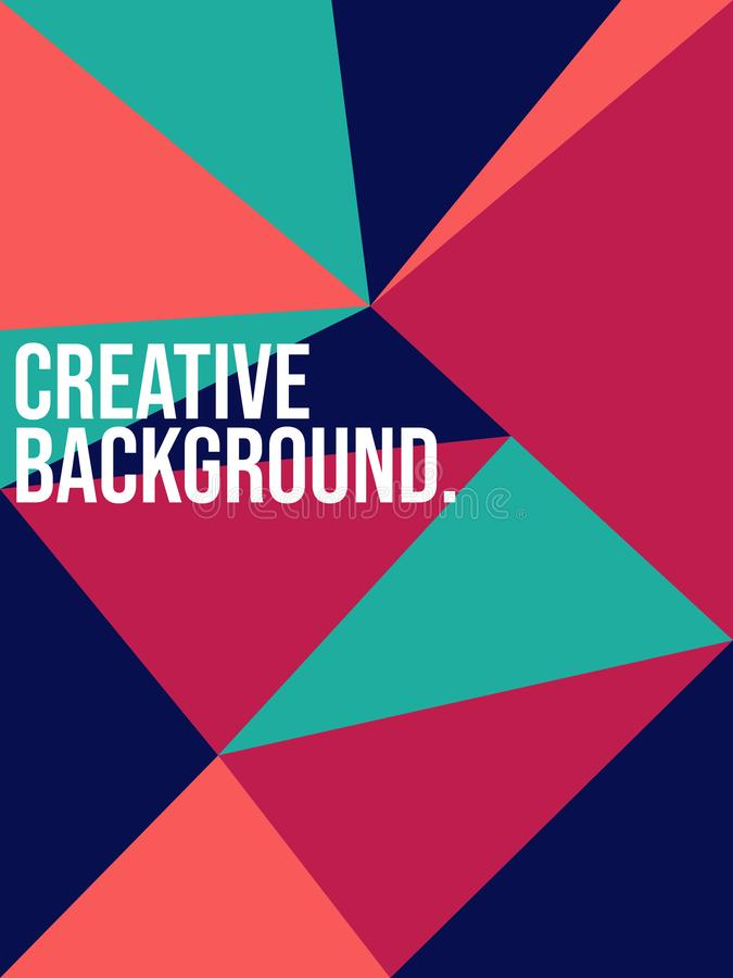 创造性的摘要乱画几何背景 适用于横幅、印刷品、小册子、盖子、模板设计等等 皇族释放例证