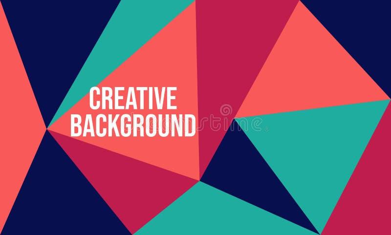 创造性的摘要乱画几何背景 适用于横幅、印刷品、小册子、盖子、模板设计等等 向量例证