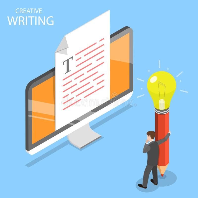 创造性的文字平的等量传染媒介概念 库存例证