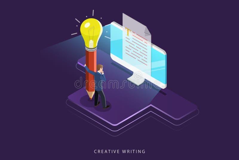 创造性的文字平的等量传染媒介概念 向量例证