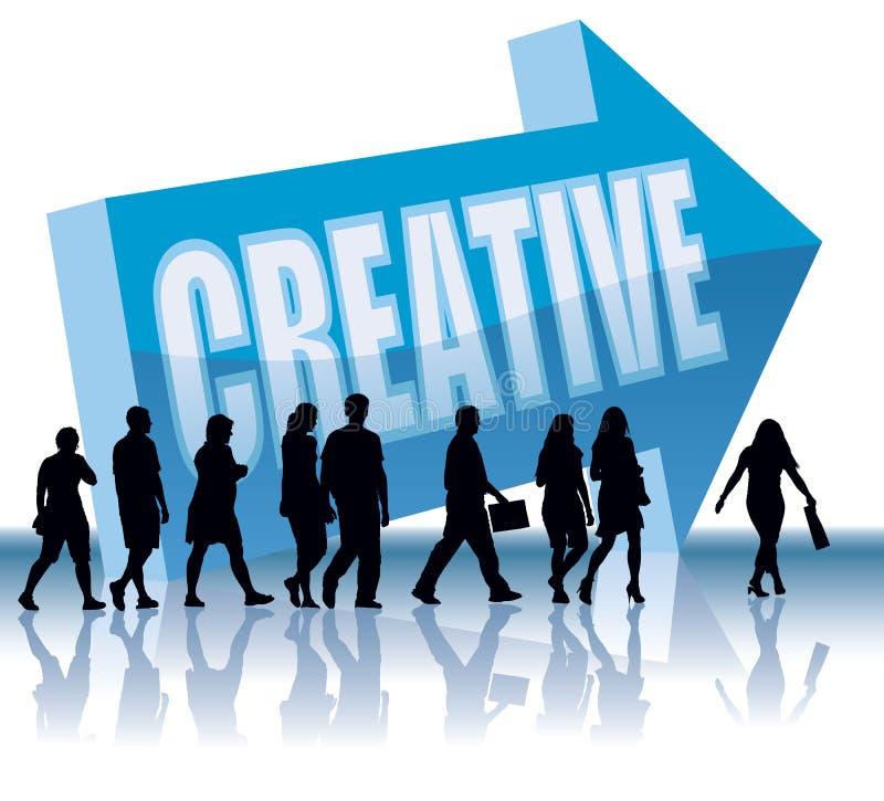 创造性的方向 皇族释放例证