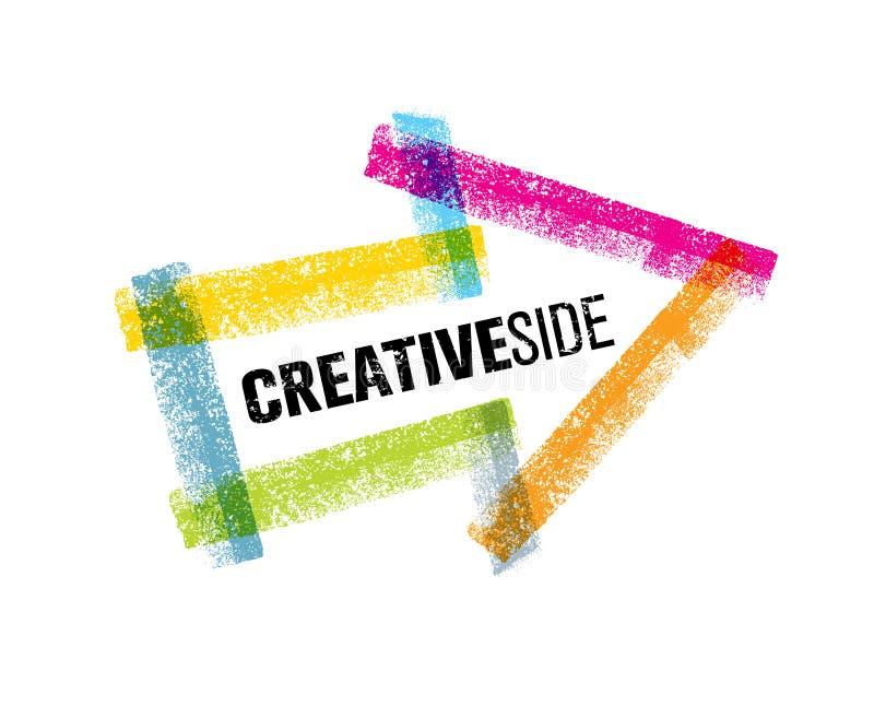 创造性的旁边艺术五颜六色的箭头传染媒介设计元素 库存例证