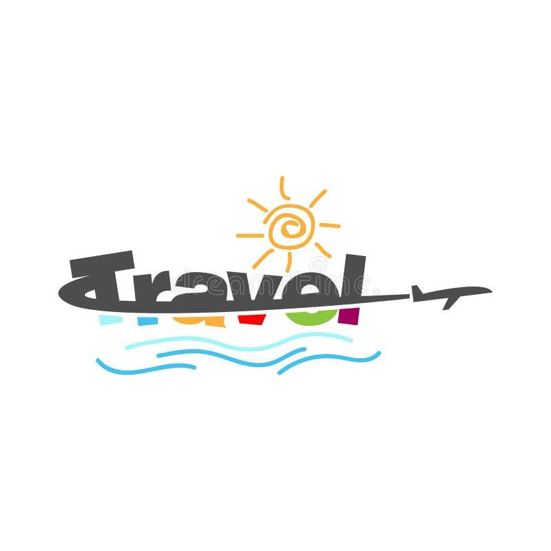 创造性的旅行印刷术商标设计传染媒介图象模板 库存例证
