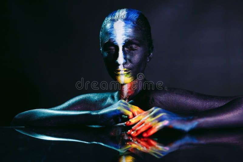 创造性的构成和秀丽人体艺术题材 免版税库存照片