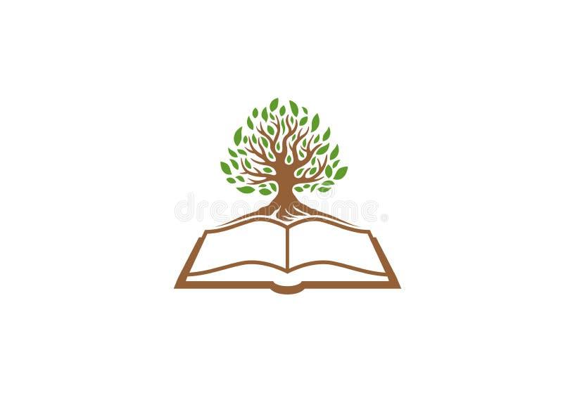 创造性的树书商标 皇族释放例证