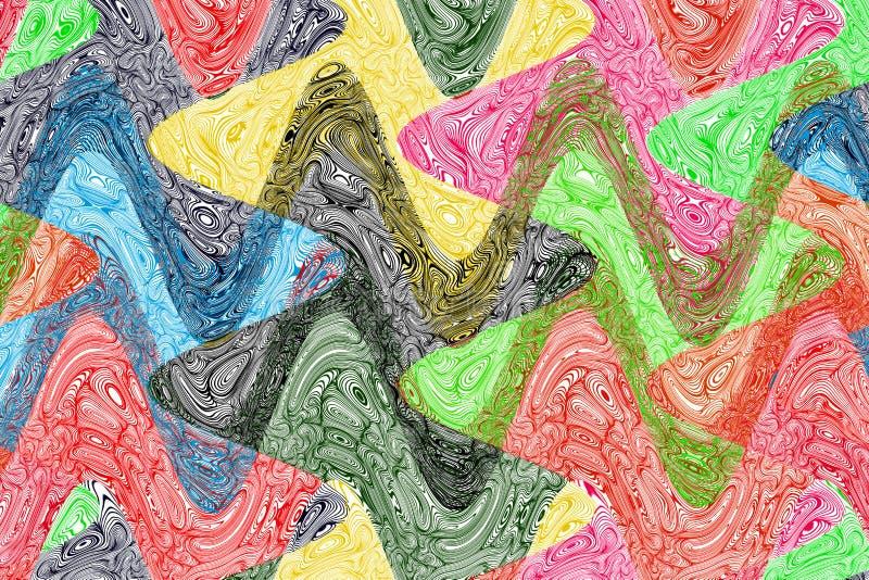 创造性的波浪五颜六色的背景 免版税库存照片