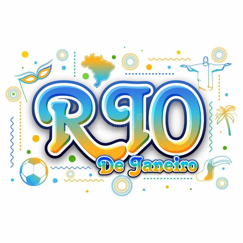 创造性的海报,横幅,里约热内卢飞行物  向量例证