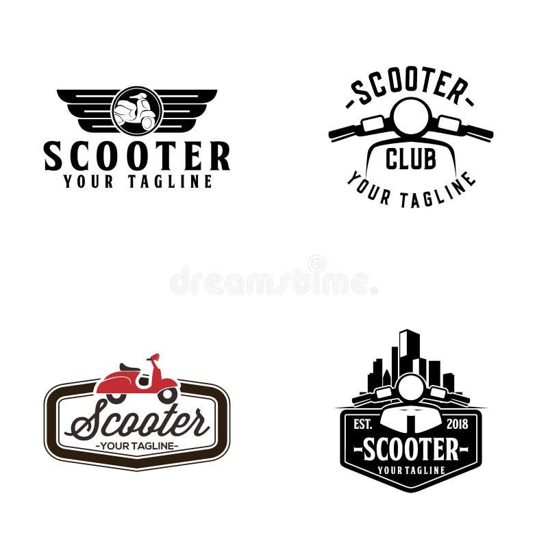 创造性的滑行车商标传染媒介艺术商标 向量例证