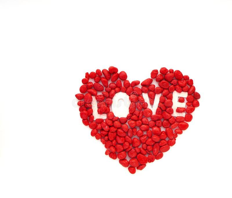 创造性的爱小的红色石头 免版税库存照片