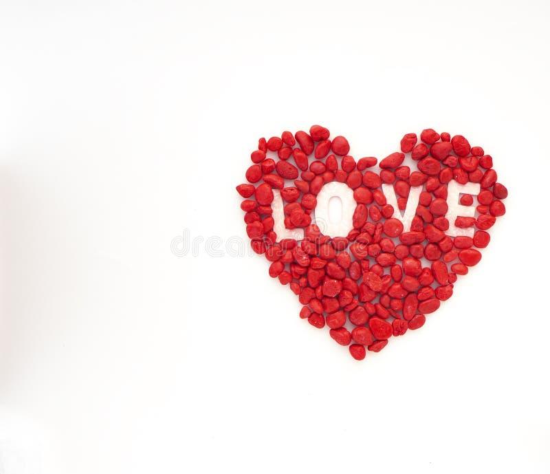 创造性的爱小的红色石头 库存图片