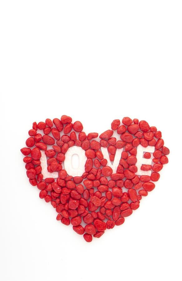 创造性的爱小的红色石头 免版税图库摄影