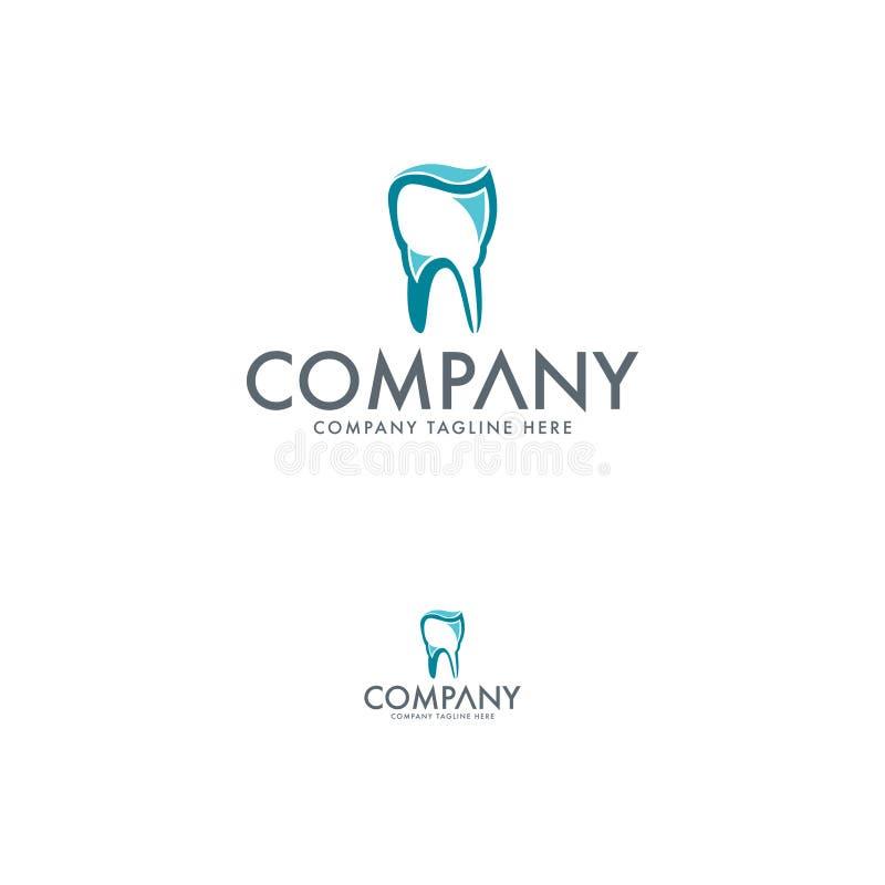 创造性的牙齿和牙商标模板 皇族释放例证