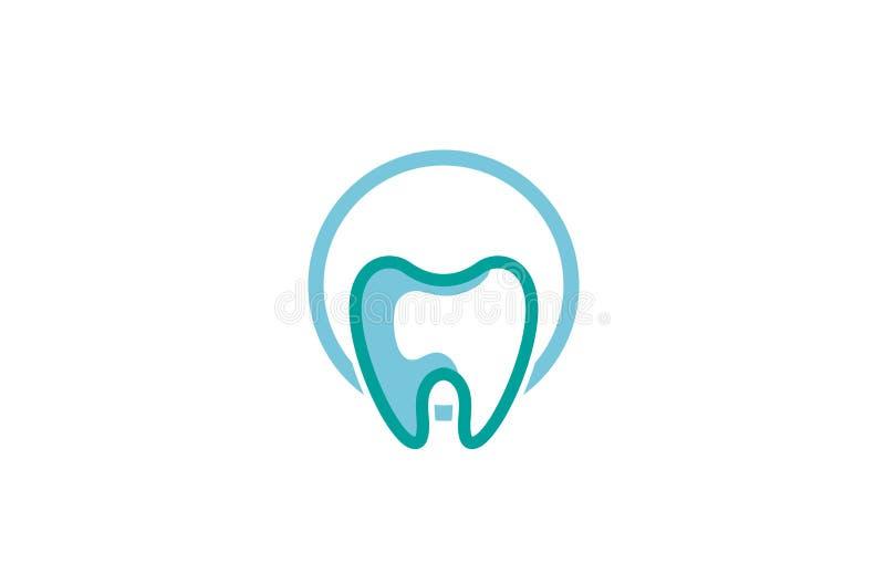 创造性的牙齿圈子商标设计传染媒介标志例证 皇族释放例证