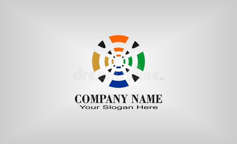 创造性的独特的圈子商标设计 皇族释放例证