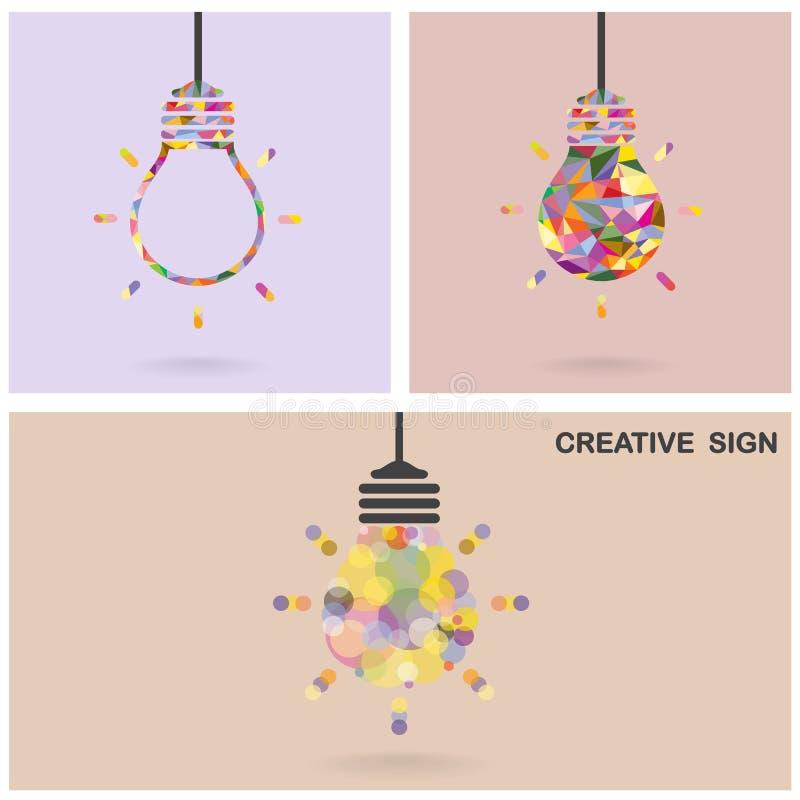 创造性的电灯泡想法概念,企业想法, ab 皇族释放例证