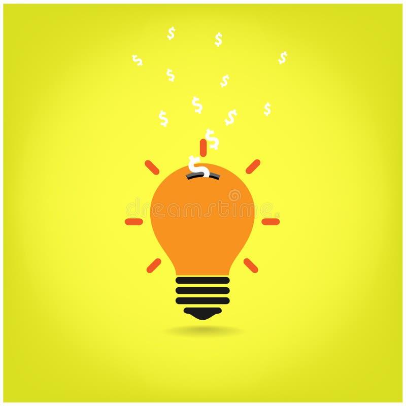 创造性的电灯泡,保存的标志 皇族释放例证