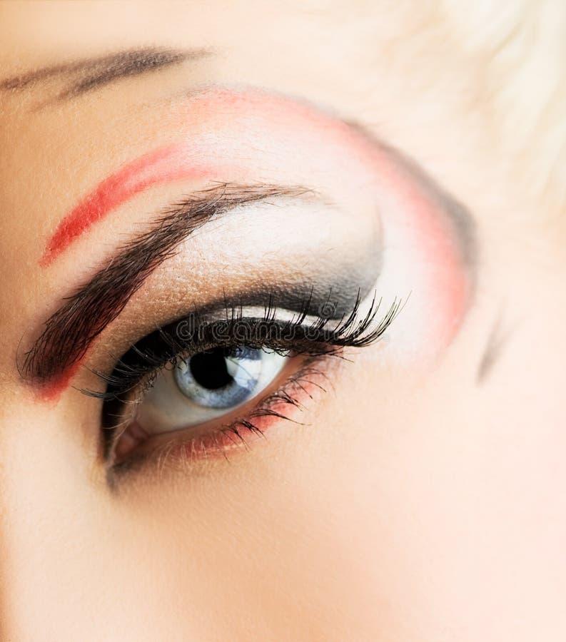 创造性的眼睛油漆 免版税库存图片