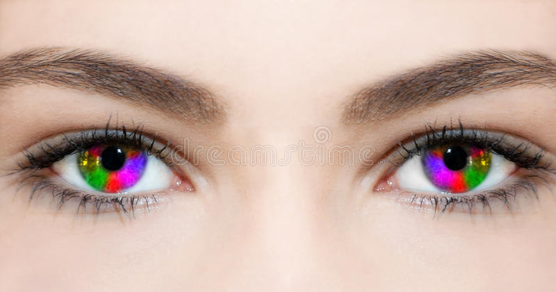 创造性的眼睛 库存照片