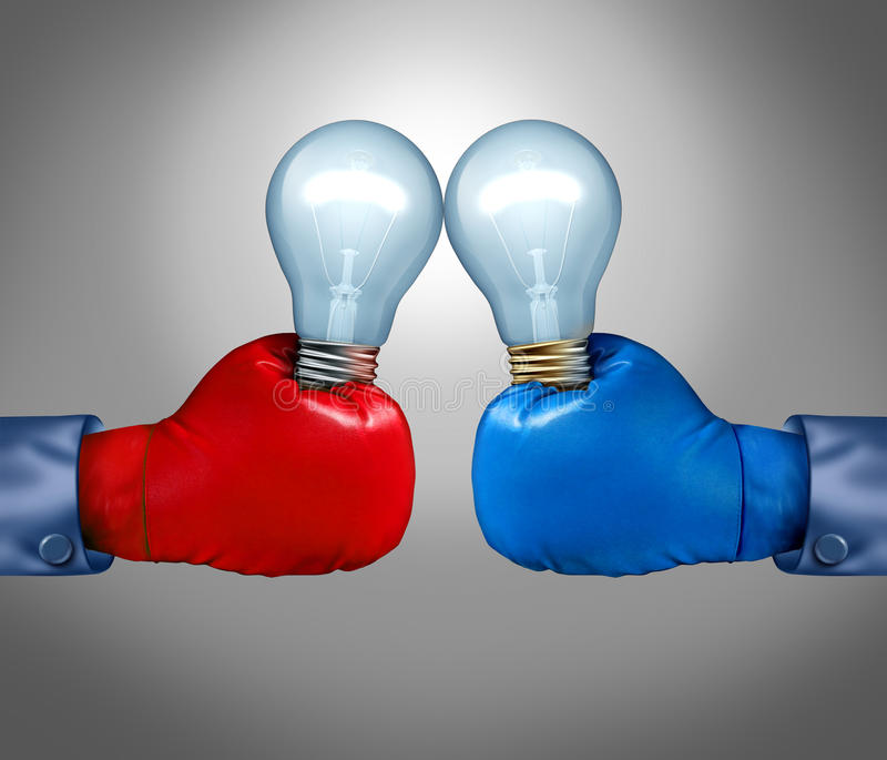 创造性的竞争 向量例证