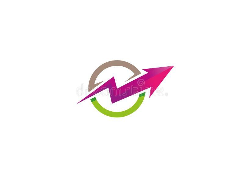 创造性的箭头圈子商标 向量例证