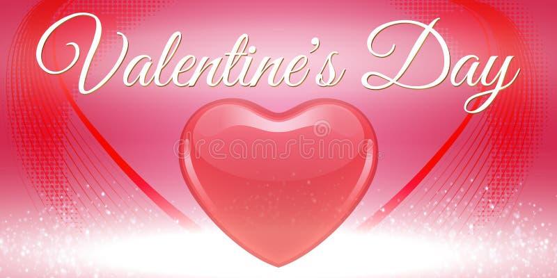 创造性的红色心脏横幅情人节 免版税库存图片
