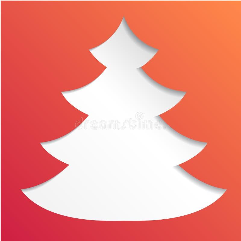 创造性的纸抽象圣诞树背景, eps10传染媒介例证 向量例证