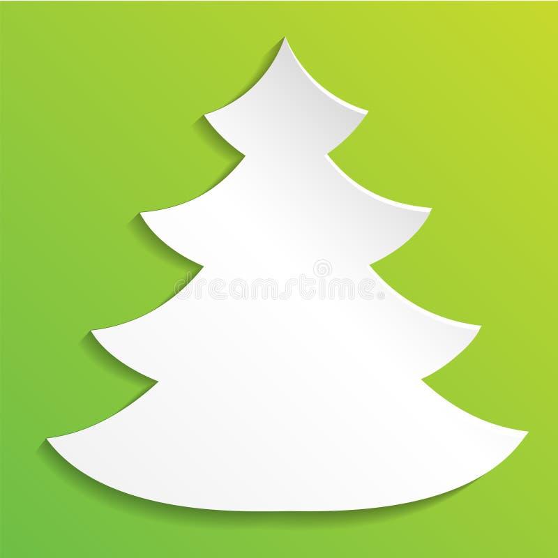 创造性的纸抽象圣诞树背景, eps10传染媒介例证 库存例证