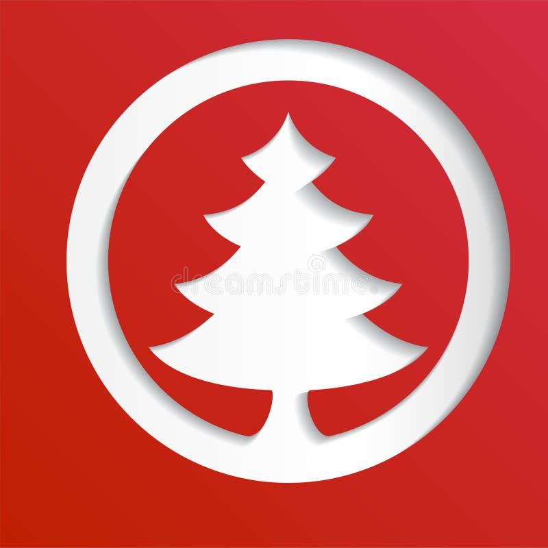 创造性的纸抽象圣诞树背景, eps10传染媒介例证 皇族释放例证