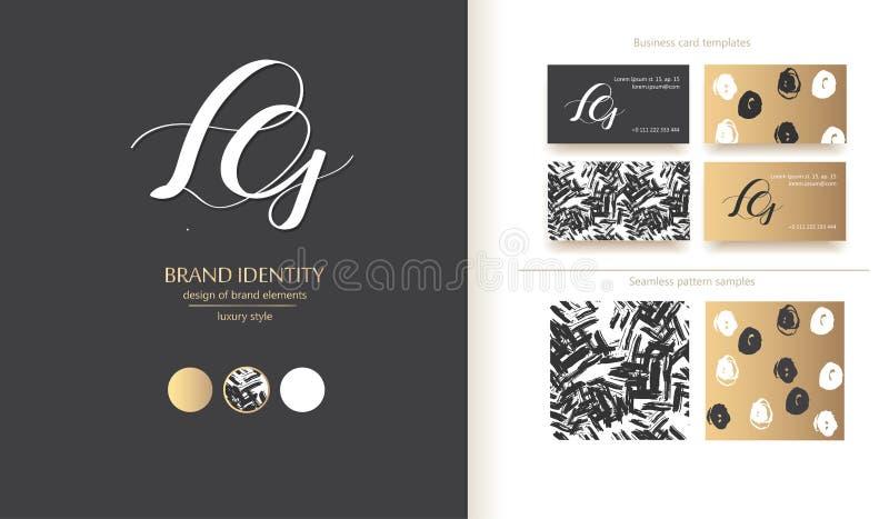 创造性的组合图案-手拉的书法标志 大写A、H和J字母组合 r 图库摄影