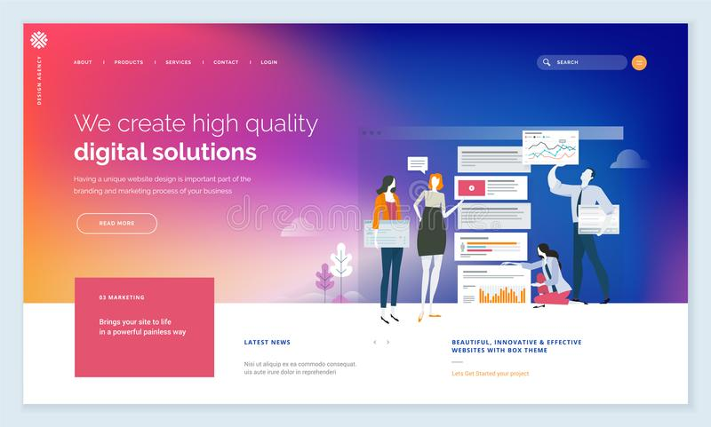 创造性的网站模板设计 向量例证