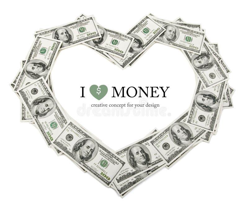 创造性的美元框架重点挣了货币 库存照片