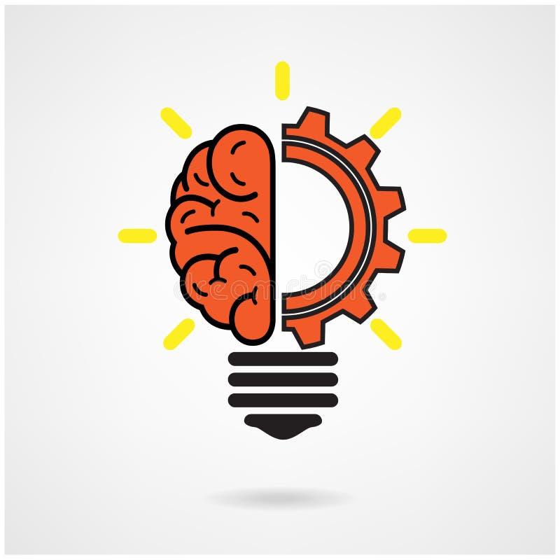 创造性的脑子想法 库存例证