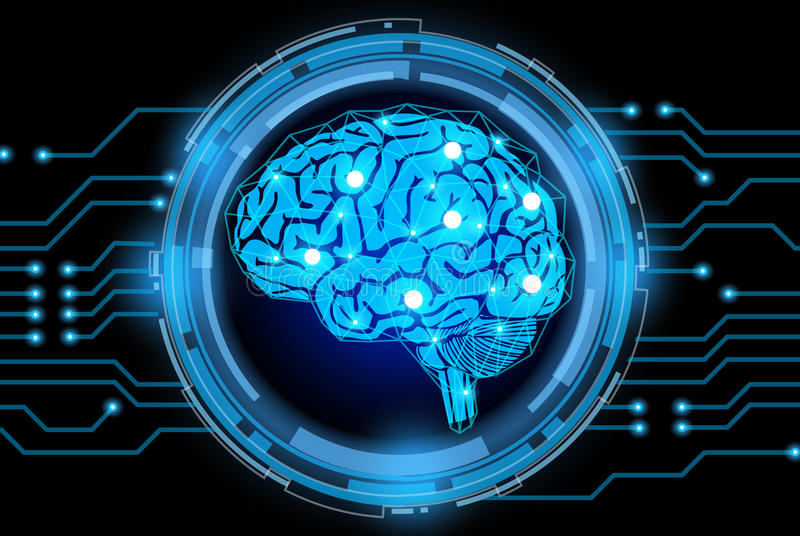 创造性的脑子概念背景 皇族释放例证