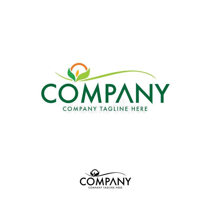 创造性的自然和农业商标设计模板 库存例证