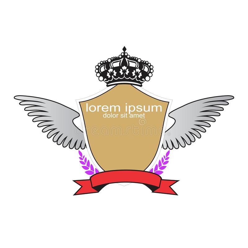创造性的范例设计冠背景 皇族释放例证