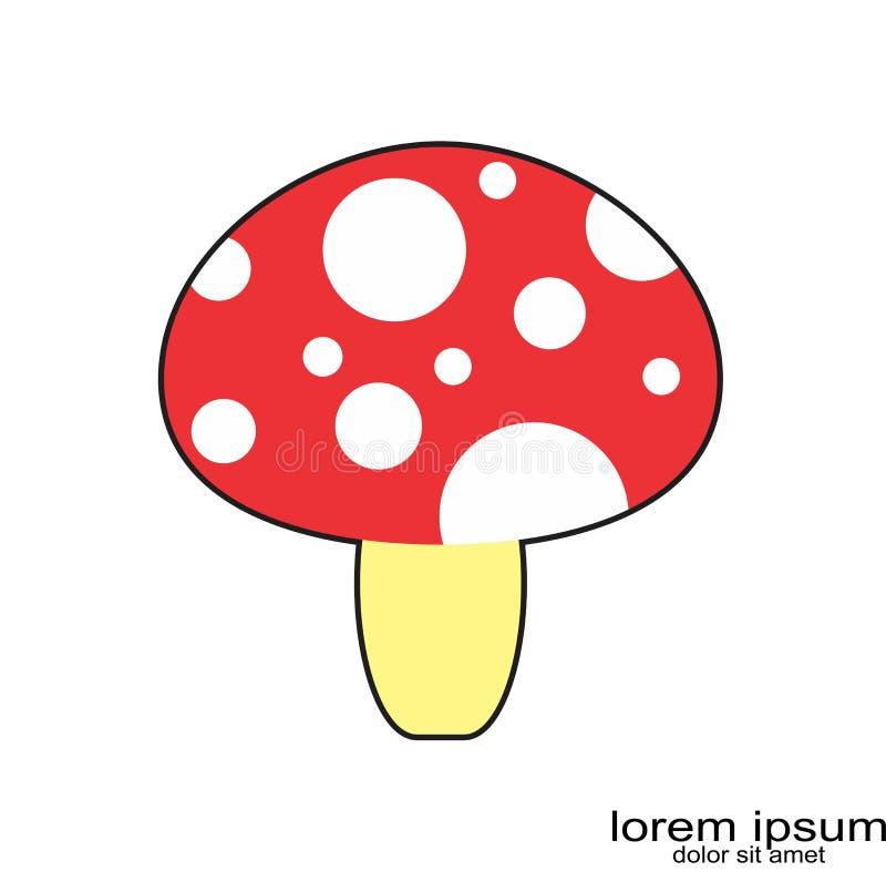 创造性的范例设计蘑菇商标 皇族释放例证