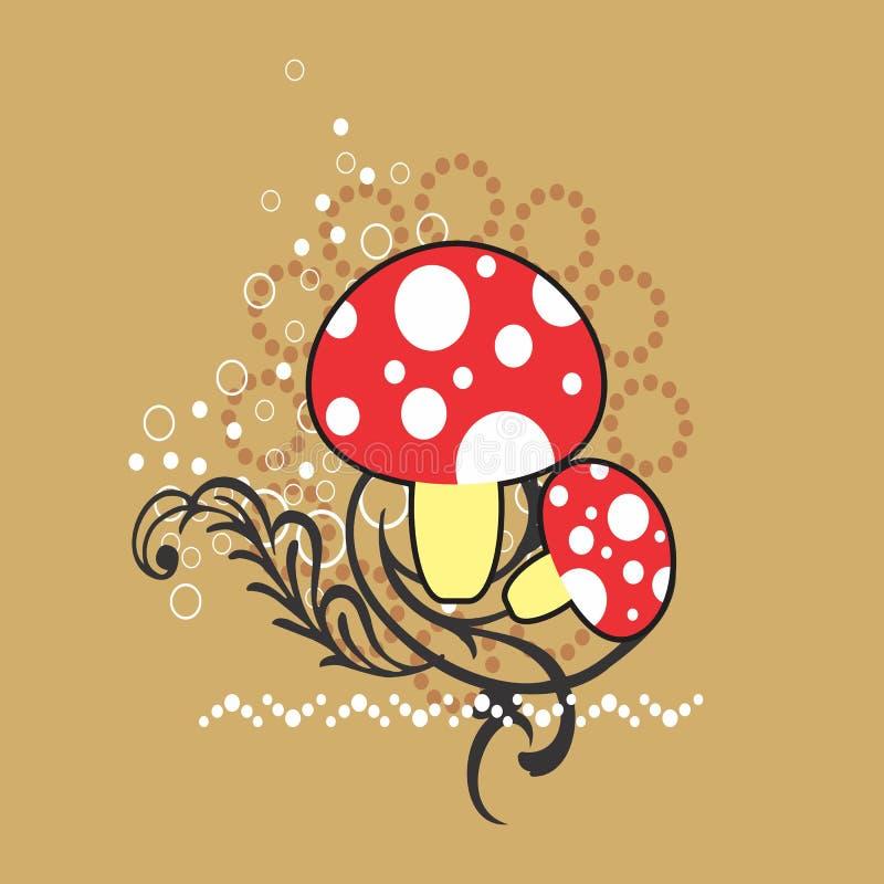 创造性的范例设计蘑菇背景 皇族释放例证