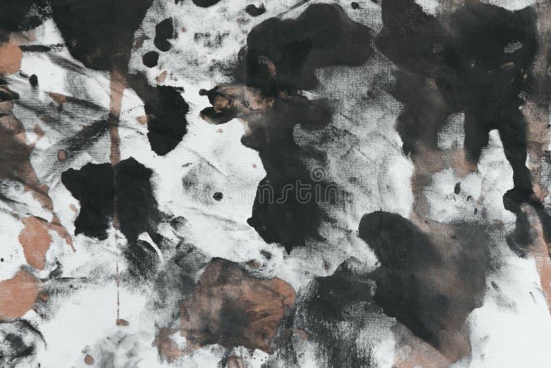 创造性的葡萄酒任意地绘了帆布,与颜色油漆的织品察觉并且弄脏纹理为使用作为背景 免版税库存照片