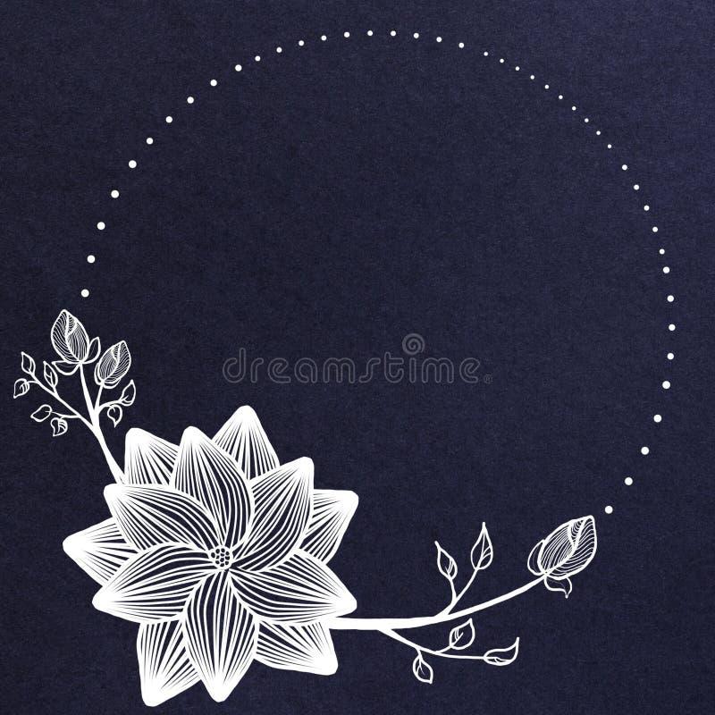 创造性的蓝色花卉横幅 皇族释放例证