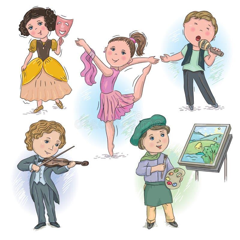 创造性的行业孩子 向量例证