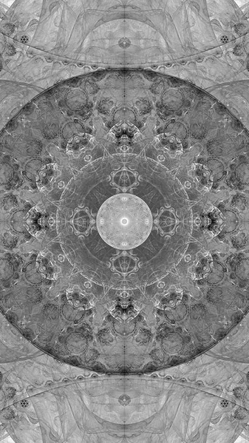 创造性的设计的抽象分数维例证 库存例证