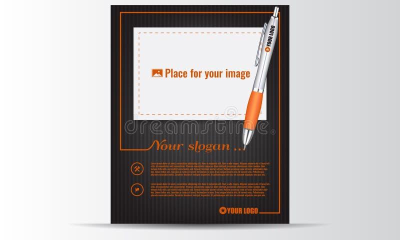 创造性的设计飞行物和地方图片的 企业海报 库存例证