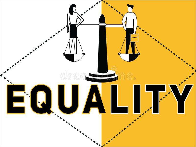 创造性的词做活动的概念平等和人 库存例证