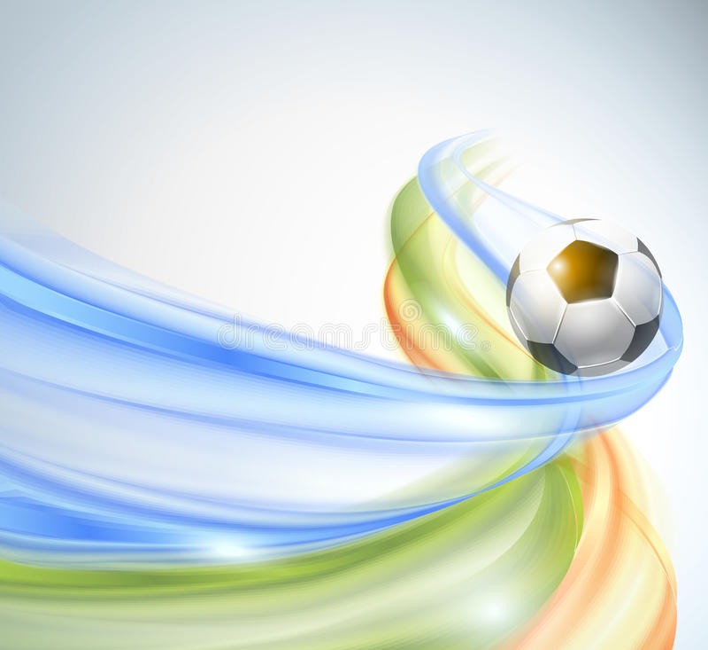创造性的足球传染媒介设计 库存例证
