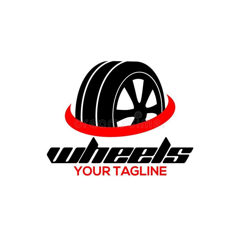 创造性的轮子商标传染媒介艺术商标 库存例证